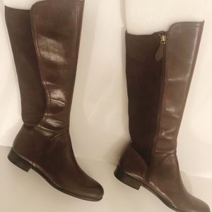 New Women Brown Faux Suede Leather Boots Sz 7